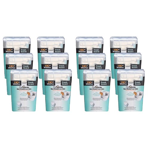 CatGenie 120 SaniSolution Smart Cartridge, Fresh Scent (12-Pack)