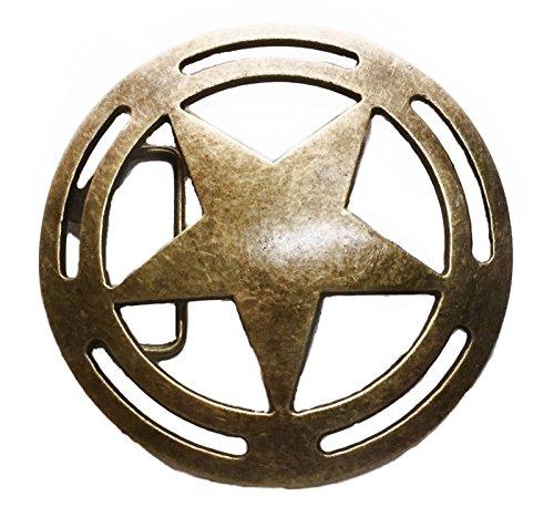 (Captain America Shield Antique Bronze Metal Belt Buckle)