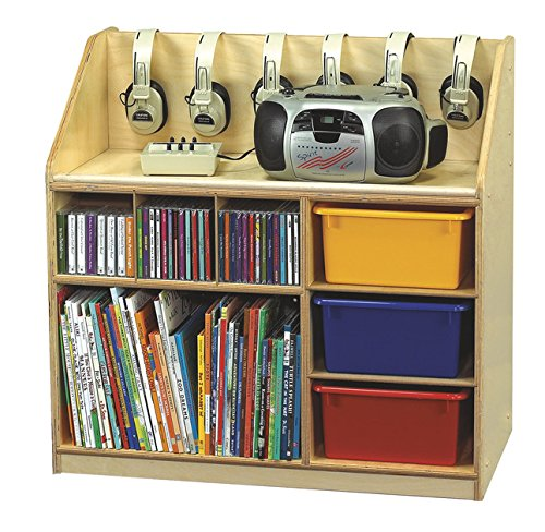 Childcraft Mobile Audio Station, 29-3/4 x 16-1/2 x 29-3/4 Inches