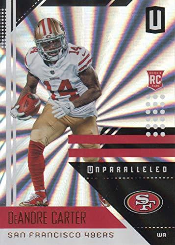 2018 Panini Unparalleled Football Shine #175 DeAndre Carter San Francisco 49ers