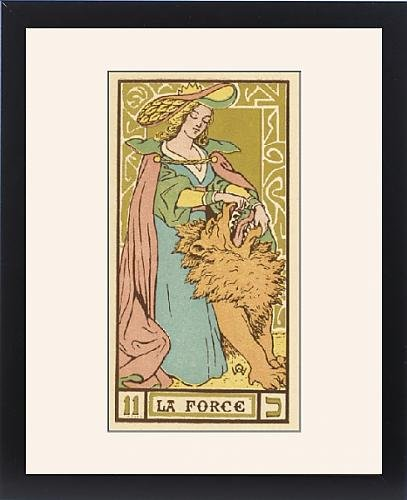 Framed Print of Tarot Card 11 - La Force (Strength) by Prints Prints Prints