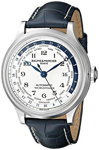 Baume & Mercier Men's BMMOA10106 Capeland World Timer Analog Display Swiss Automatic Blue Watch Swiss World Timer