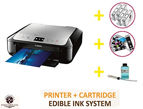 YummyInks Brand DELUXE PACKAGE 2: YummyInks Brand CANON MG6821 BUNDLED PRINTING SYSTEM - INCLUDES EXTRAS