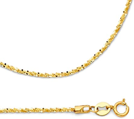 Ritastephens 14k White Gold Sparkle Wheat Chain Anklet 10 Inches 1.8 Mm