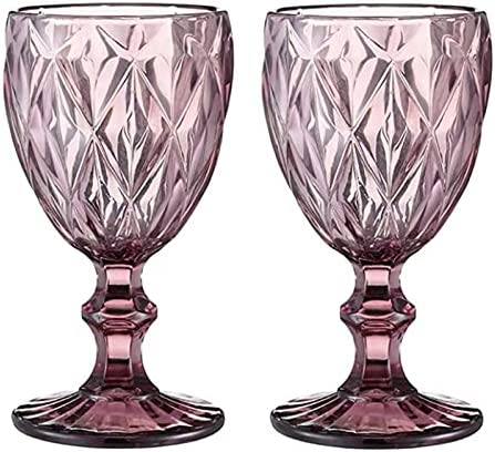 LHAXL Helado Scoop 2 Copas/Muchos Colores Vintage Vintage Gafas Vino espíritus Bodas Banquetes Vino Copas de Vino 300ml 240ml Cuchara (Capacity : 300ml 10oz, Color : 2)