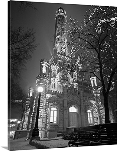 Canvas On Demand Premium Thick-Wrap Canvas Wall Art Print entitled Water Tower Chicago IL - Chicago Water Il Tower