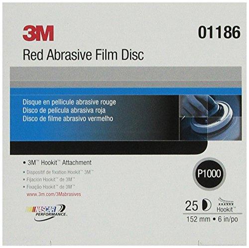"Price comparison product image 3M 01186 Hookit Red 6"" P1000 Grit Abrasive Film Disc"