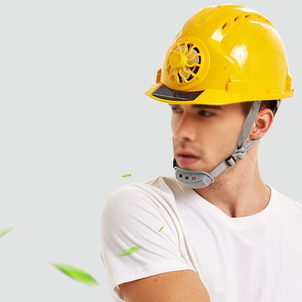 Industrial safety helmet Multi-color Selection Color : Yellow Construction Site Sun Protection Construction Helmet AQMAO Construction worker helmet Helmet color: Yellow