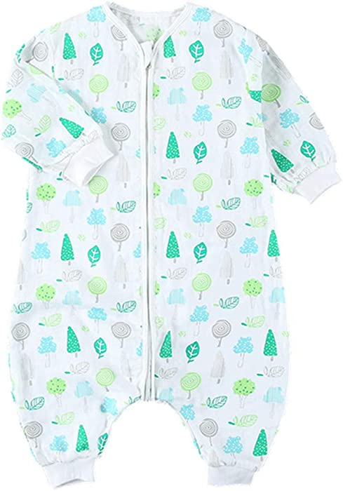 Bebé Sacos de Dormir Infantil Bolsa de Dormir Pierna Partida AlgodóN Modelo Pijama Ropa para NiñIto 75 a 105 cm, 1.5 TOG