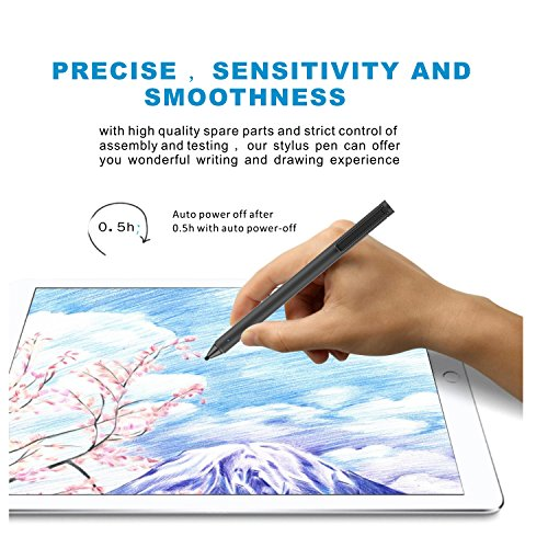 FENTAC Active Stylus Pen 2.4 mm Fine Point Fiber Tip for Touch Screen Devices(Black) by Fentac (Image #2)