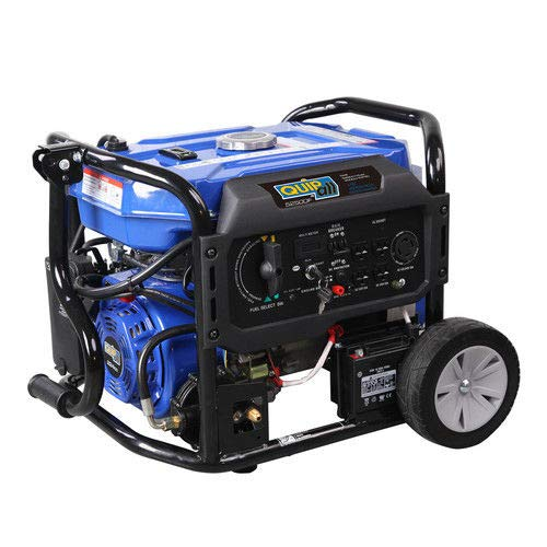 Quipall 5250DF 5,250 Watt Dual Fuel Gas Portable Generator w/Electric Start