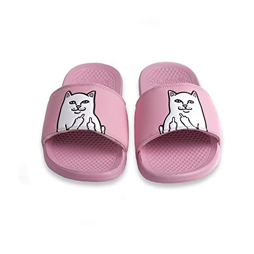 e7a7365025af5 Amazon.com  RipNDip Lord Nermal Slides Pink  Clothing