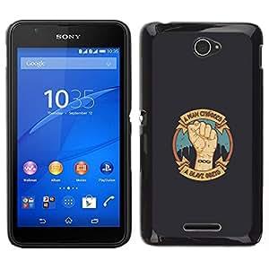 All Phone Most Case / Oferta Especial Duro Teléfono Inteligente PC Cáscara Funda Cubierta de proteccion Caso / Hard Case Sony Xperia E4 // A Man Chooses - A Slave Obeys