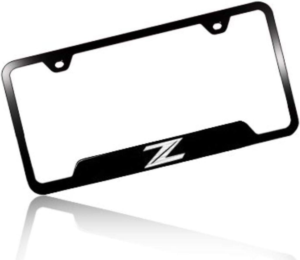Nissan in Red Black Metal License Plate Frame