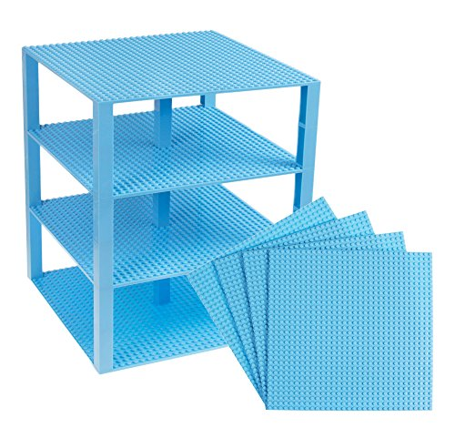 Premium Sky Blue Stackable Base Plates - 4 Pack 10