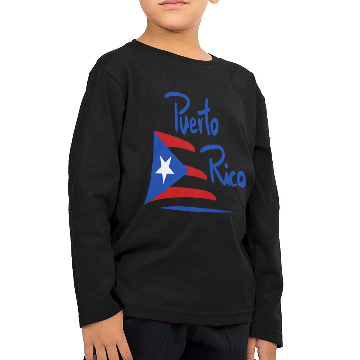 Baby Girls Little Boys Puerto Rico Flag ComfortSoft Long Sleeve Tee