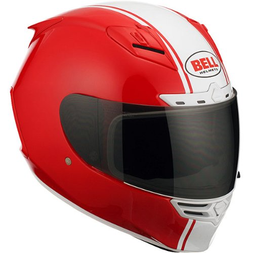 Bell Rally Adult Star Street Bike Racing Motorcycle Helmet - Red / - Stars Helmets Street Bikes