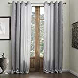"""twopages Grommet Top Classic Grey 55% Cotton Chenille/45% Rayon Eco-friendly Curtain (One Panel) Multi Size Available Custom 84Wx63""""L"""