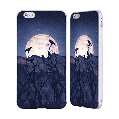 Ufficiale Tracie Andrews Coro di Mezzanotte Paesaggi E Animali Argento Cover Contorno con Bumper in Alluminio per Apple iPhone 6 Plus / 6s Plus