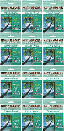 Matt's Munchies Island Mango Organic Non-GMO Peelable Fruit Snack 12 Pack Caddy (1 Ounce)
