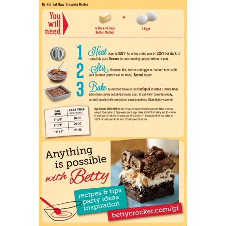 Betty Crocker Gluten Free Brownie Mix, 16-Ounce Boxes (Pack of 8)