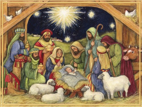 Nativity Card Scene Christmas (LANG -