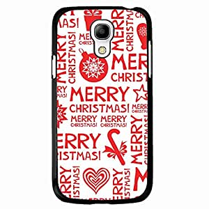 Merry Christmas Phone Case Hard Plastic Back Case Cover For Samsung Galaxy S4 MINI,Merry Christmas---Black