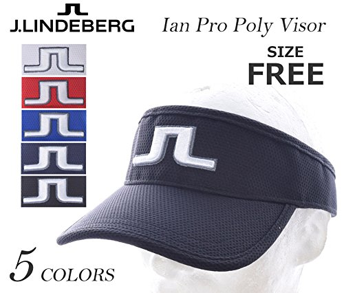 db0b351f3e6 J.Lindeberg Ian Pro Poly Visor - Black  Amazon.com.au  Sports ...