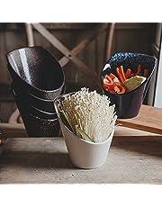 Stock Goods Slanted Vegetable Ceramic Bowl Flower Shape Porcelain Berry Matte Japanese USA Cooking Bowl