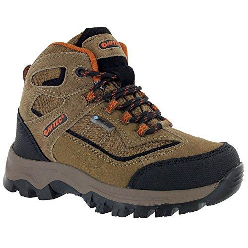 Hi-Tec Kids Unisex Hillside Waterproof Jr hiking Boot (Toddler/Little Kid/Big Kid), Brown/Orange, 6 M Big Kid