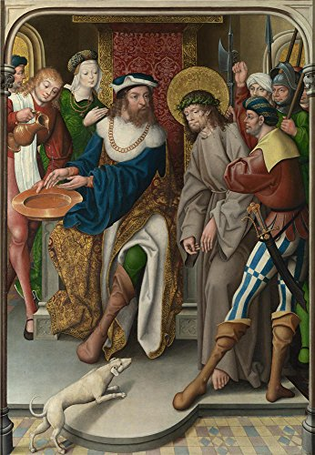 ['Master Of Cappenberg (Jan Baegert) Christ Before Pilate ' Oil Painting, 8 X 12 Inch / 20 X 29 Cm ,printed On Polyster Canvas ,this Reproductions Art Decorative Prints On Canvas Is Perfectly Suitalbe For Gift For Girl Friend And Boy Friend And Home Artwork And Gifts] (Masters Of The Universe Movie Costumes)