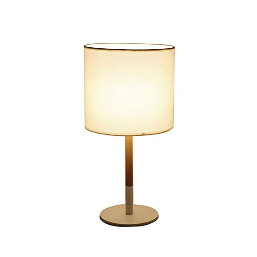 XuQinQin Lámpara de Mesa de Madera Maciza, tamaño de la habitación ...