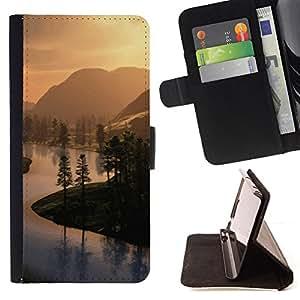 BullDog Case - FOR/Samsung Galaxy S3 Mini I8190Samsung Galaxy S3 Mini I8190 / - / Countryside views /- Monedero de cuero de la PU Llevar cubierta de la caja con el ID Credit Card Slots Flip funda de cuer