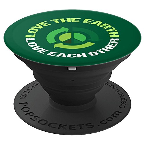 Love the Earth Love Each Other PopSockets Grip and Stand for Phones and Tablets ()