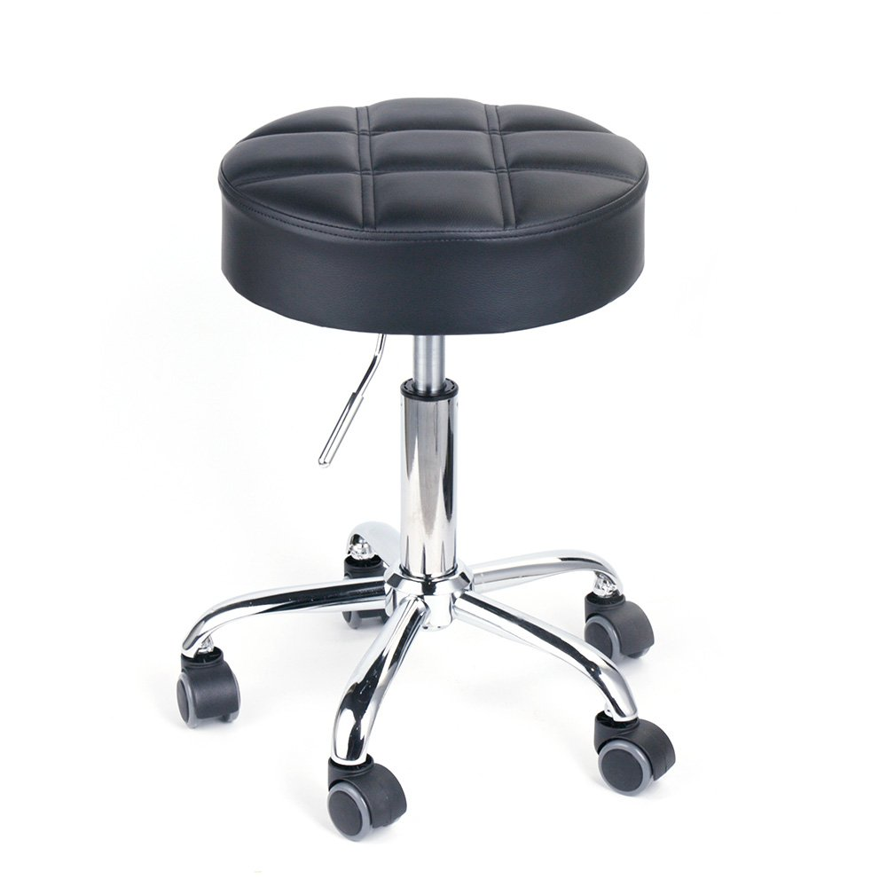 Excellent Leopard Round Rolling Stools Adjustable Work Medical Stool With Wheels Small Black Machost Co Dining Chair Design Ideas Machostcouk