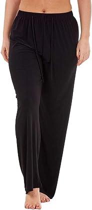 OTTATAT 2020 Spring Women Trouser Solid Color Elasticated with Drawstring Wide Leg High Waist Regular Long Pants