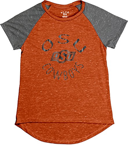 Blue 84 Ncaa Oklahoma State Cowboys Womens Gracie Confetti Raglan Tee  Large  Orange
