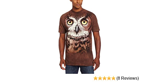 1fb20786 Amazon.com: The Mountain The Horned Owl Head T-Shirt: Clothing