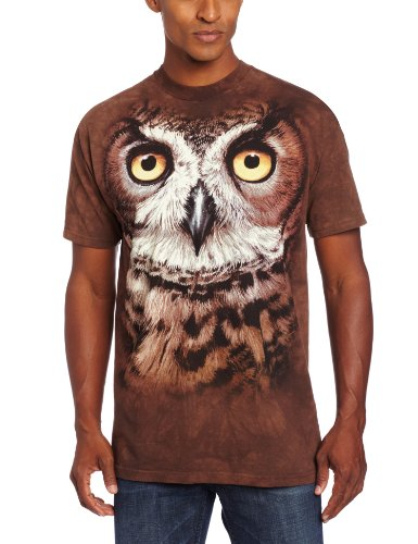 """The Mountain T-Shirt """"Great Horned Owl Head"""""""