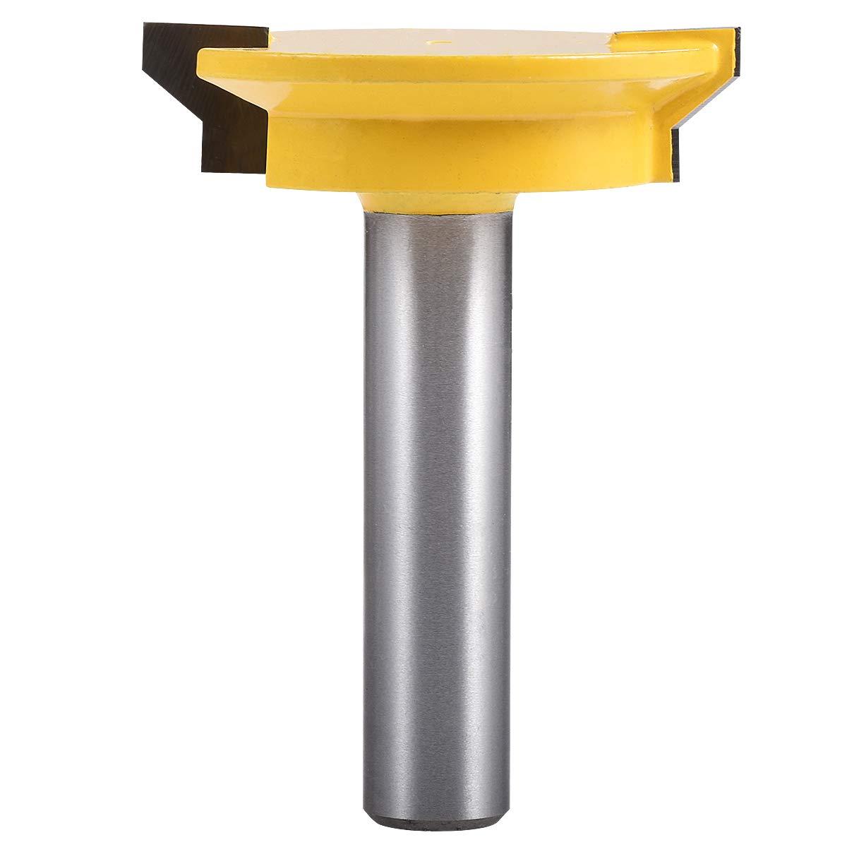 1//2 Shank 2.0 Largeur 1//2Profondeur M/èche de fraisage de tiroir avant r/éversible Fraise /à bois avec queue de 1//2 pouce KATUR M/èche de verrouillage de coin de tiroir