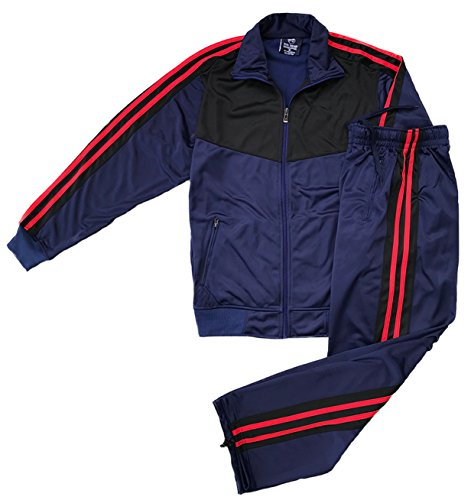 (Athletic Men's Warmup Jogging Mode Jogger Essentials Set (Navy Blue, M))