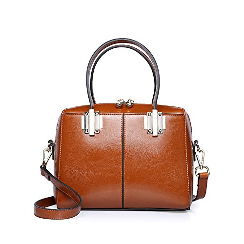 GUANGMING77 Boston _ Bolsa Bolsa Bolsa Crossbody Invierno Femenino Todos-Match Tide Portable Sra.,Rosa brown