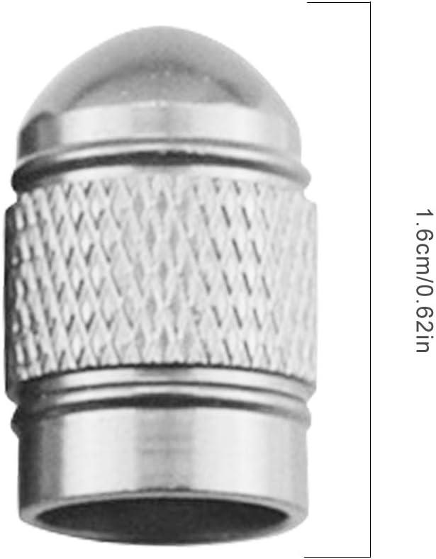Qinghengyong 4 PC//Sistema de v/álvula del neum/ático del Coche de v/ástago neum/ático de la Rueda del neum/ático del Casquillo de v/álvula de Aire de Aluminio del tap/ón Antipolvo de Accesorios para