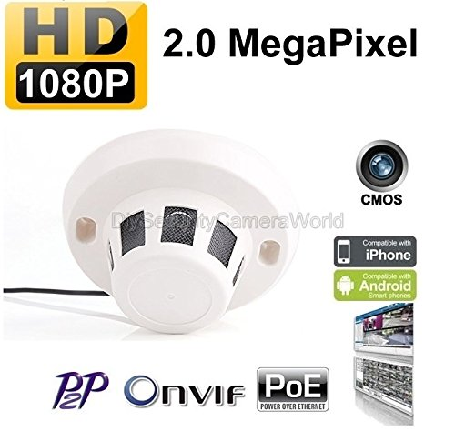 H.264 Covert Wired Ip Camera Real Time 25 Fps 2.0mp 1080p Hd Onvif P2p Function Security Network Smoke Detector Style Hidden ()
