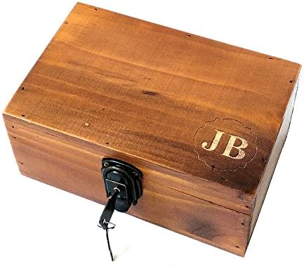 Awerise Personalized Wooden Keepsake Box W Lock Key Custom Jewelry Box Bridesmaid Box Mother Girlfriend Gift