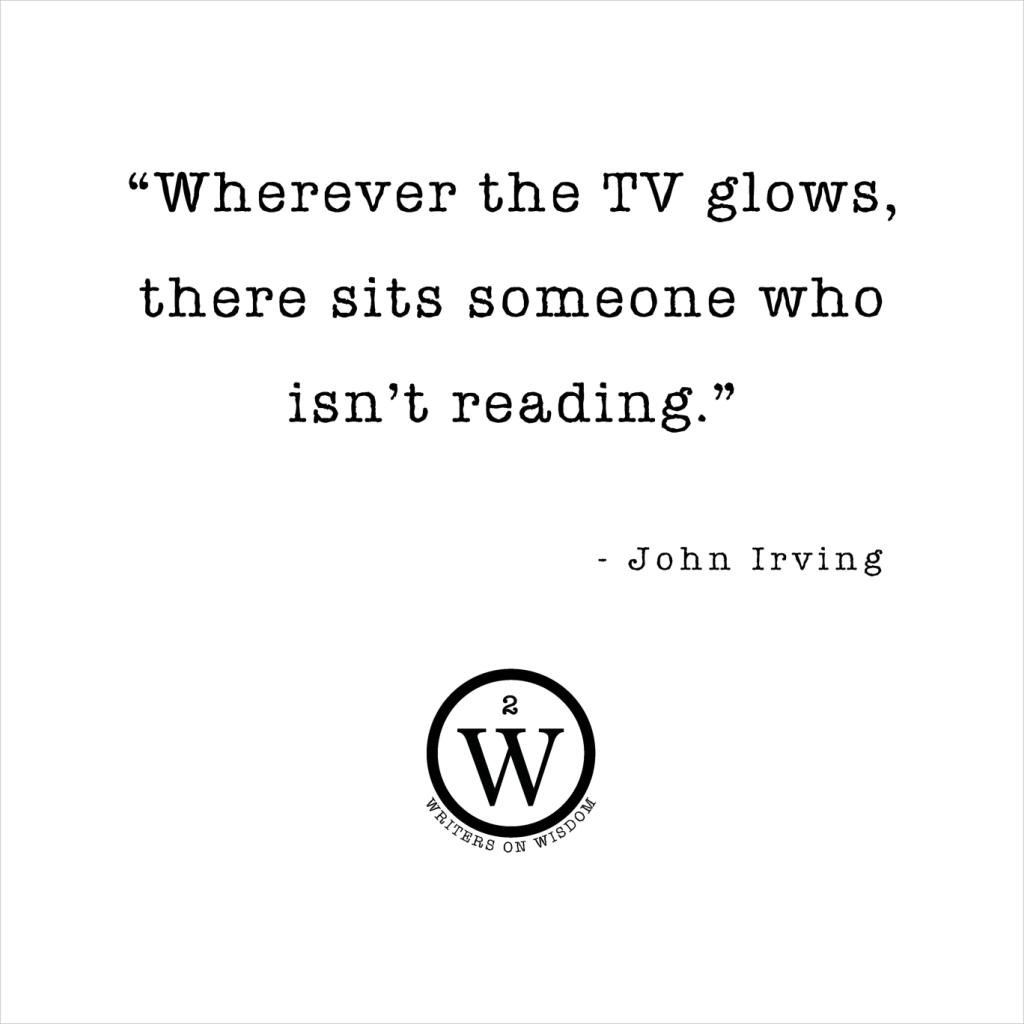 Wherever The TV Glows Someone Isnt Reading John Irving Kids Hooded Sweatshirt