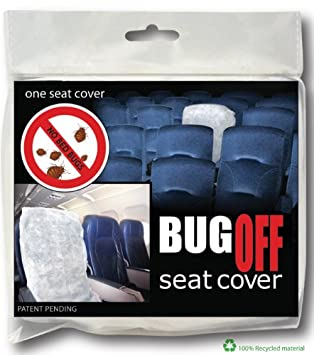 BugOff Bed Bug Seat Cover / Protector - White - Package of 12 Gina Group LLC.