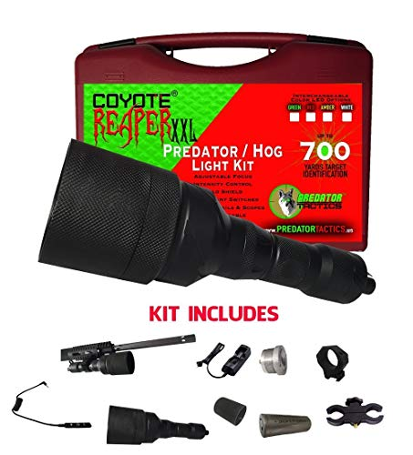 Predator Tactics Coyote Reaper Predator Hunting XXL Rifle Light Kit, Double LED (Green and Red)