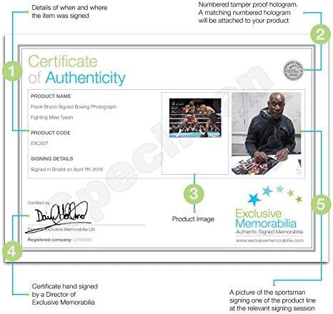 Frank Bruno firmada y enmarcada boxeo Foto: La lucha contra Mike Tyson: Amazon.es: Deportes y aire libre