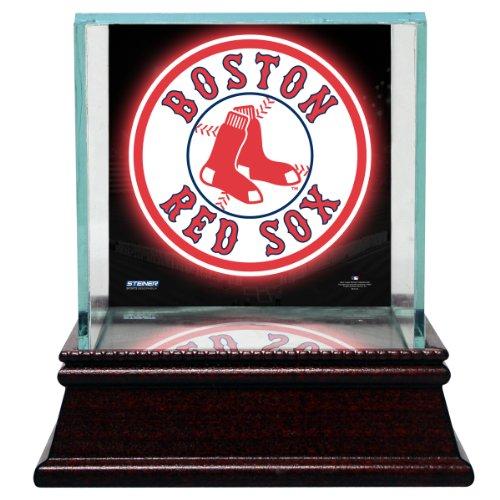 MLB Boston Red Sox Glass Single Baseball Case with Team Logo - Baseball Glass Single Case